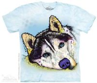 Russo Siberian Husky T-shirt | Dog T-shirts | The Mountain® | Dean Russo